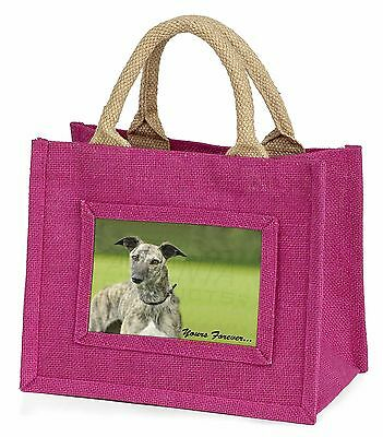 Greyhound Dog 'Yours Forever' Little Girls Small Pink Shopping Bag C, AD-LU7yBMP