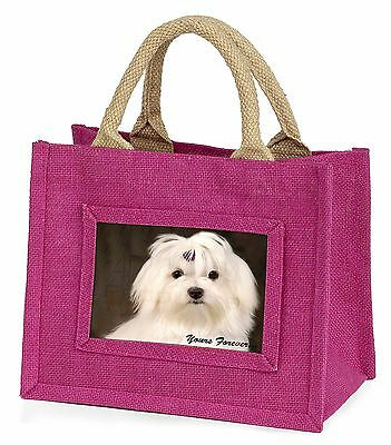 Maltese Dog 'Yours Forever' Little Girls Small Pink Shopping Bag Chri, AD-M1yBMP
