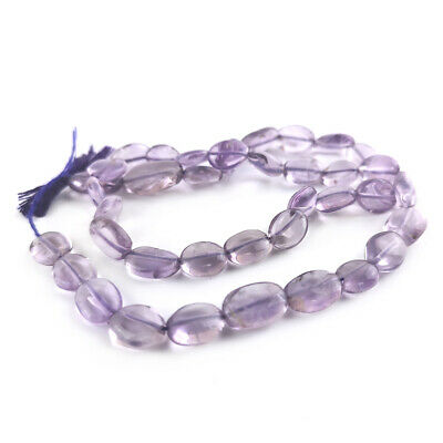 Cape Amethyst Oval Beads 6x8mm-7x10mm Lilac 38+ Pcs Handcut Gemstones Jewellery