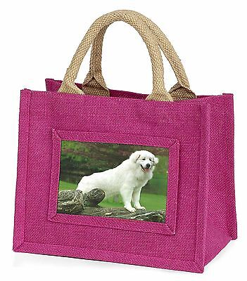 Pyrenean Mountain Dog Little Girls Small Pink Shopping Bag Christmas , AD-PM1BMP