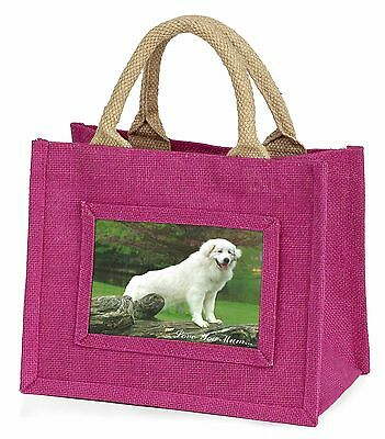 Pyrenean Mountain Dog 'Love You Mum' Little Girls Small Pink Shopp, AD-PM1lymBMP