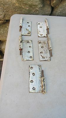 Lot of Vintage Steeple Door Hinges 4 1/2  X 4 1/2 parts