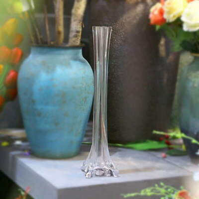Bulk Lot 12 x Clear Glass Eiffel Tower Vases Wedding Centerpiece 40cm