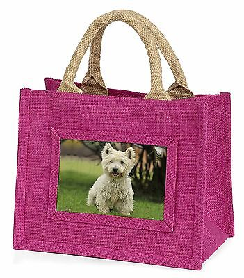 West Highland Terrier Dog Little Girls Small Pink Shopping Bag Christ, AD-W10BMP