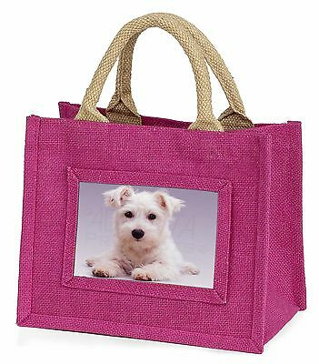 West Highland Terrier Dog Little Girls Small Pink Shopping Bag Christm, AD-W7BMP