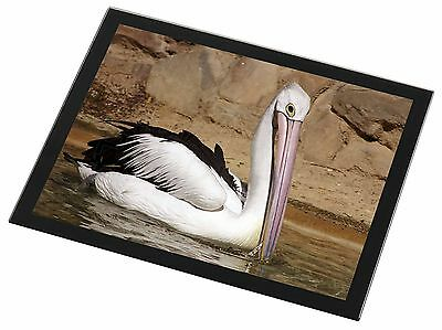 Pelican Print Black Rim Glass Placemat Animal Table Gift, AB-68GP