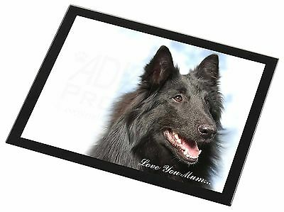 Black Belgian Shepherd Dog Glass Paperweight in Gift Box Christmas Pre AD-BS3PW