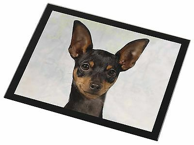English Toy Terrier Dog Black Rim Glass Placemat Animal Table Gift, AD-ET1GP