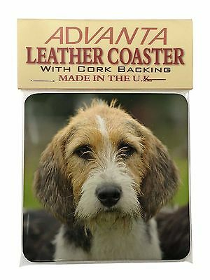 Welsh Fox Terrier Dog Single Leather Photo Coaster Animal Breed Gift, AD-FT4SC