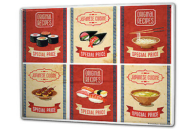 Tin Sign XXL Kitchen Sushi coffee fast food metal plate plaque