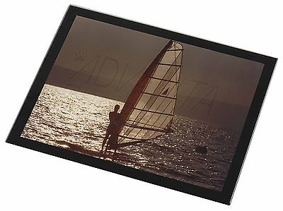 Wind Surfing Black Rim Glass Placemat Animal Table Gift, SPO-WS4GP