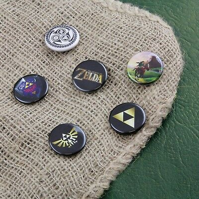 Ansteckbuttons Zelda Anstecker Legend of Zelda The Legend of Zelda im 6er Set