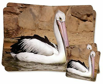 Pelican Print Twin 2x Placemats+2x Coasters Set in Gift Box, AB-68PC