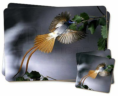Humming Bird Twin 2x Placemats+2x Coasters Set in Gift Box, AB-91PC