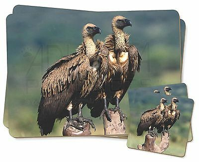 Vultures on Watch Twin 2x Placemats+2x Coasters Set in Gift Box, AB-92PC
