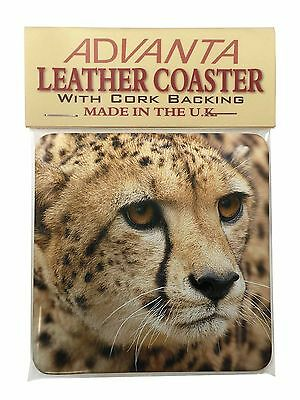 Cheetah Single Leather Photo Coaster Animal Breed Gift, AT-36SC