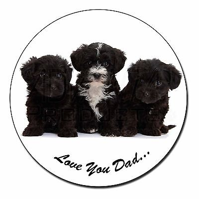 Yorkipoo Pups 'Love You Dad' Fridge Magnet Stocking Filler Christmas , DAD-139FM