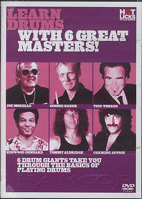 Learn Drums With 6 Great Masters Drum Tuition DVD Morello Baker Appice Aldridge