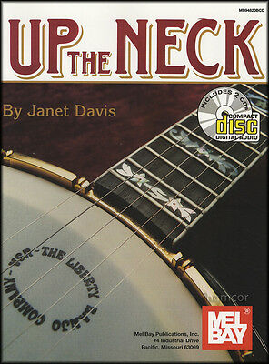 Up The Neck Janet Davis 5-String Banjo TAB Music Book/2CDs