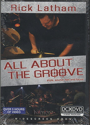 Rick Latham All About The Groove Drum Tuition DVD Style, Sound, Feel, Focus
