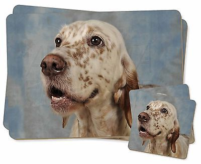 English Setter Dog Twin 2x Placemats+2x Coasters Set in Gift Box, AD-ES3PC