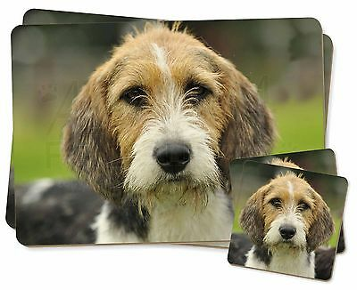 Welsh Fox Terrier Dog Twin 2x Placemats+2x Coasters Set in Gift Box, AD-FT4PC