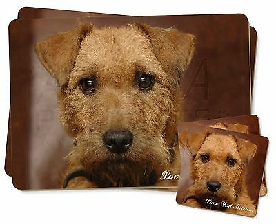 Lakeland Terrier Dog 'Love You Mum' Twin 2x Placemats+2x Coasters S, AD-LT2lymPC