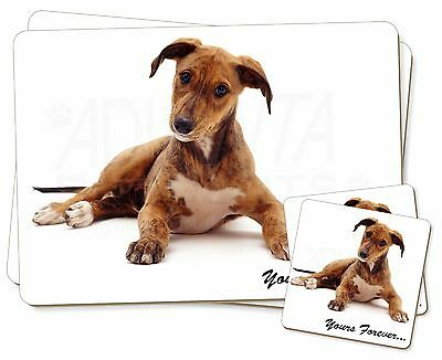 Lurcher Dog 'Yours Forever'  Twin 2x Placemats+2x Coasters Set in Gift, AD-LU4PC