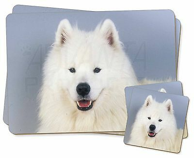 Samoyed Dog Twin 2x Placemats+2x Coasters Set in Gift Box, AD-SO76PC