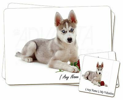 Personalised (Any Name) Twin 2x Placemats+2x Coasters Set in Gift Bo, VAD-H54RPC