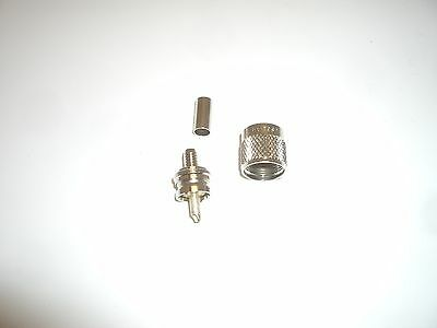 AMPHENOL 83-59SP PL-259 UHF MALE CRIMP ON ANTENNA CONNECTOR FOR RG-59 RG-8X NOS