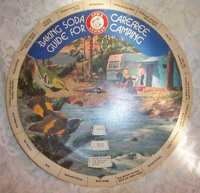 Baking Soda Carefree Guide For Camping 1960's Dial Chart