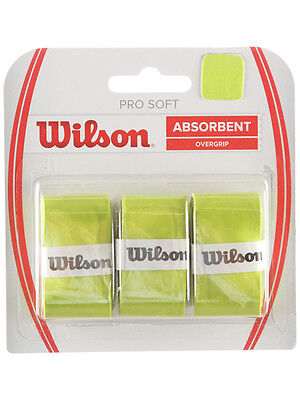 3 Wilson Pro Soft Grips/Overgrips - Green - Free P&P