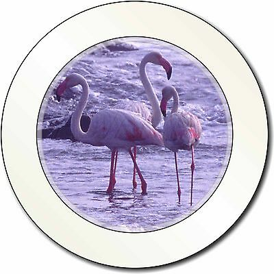 Pink Flamingo on Sea Shore Car/Van Permit Holder/Tax Disc Gift, AB-52T