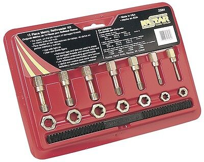 Ae2584 A&E Rethread Tap And Die Set 15Pc Metric