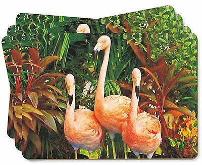 Pink Flamingo Print Picture Placemats in Gift Box, AB-74P
