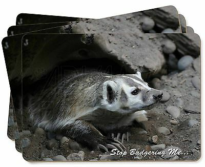 Badger-Stop Badgering Me! Picture Placemats in Gift Box, ABA-3P
