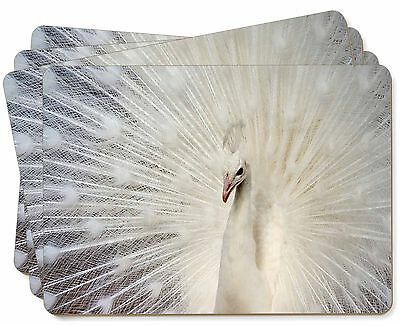 White Feathers Peacock Picture Placemats in Gift Box, AB-PE19P