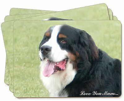 Bernese Mountain Dog 'Love You Mum' Picture Placemats in Gift Box, AD-BER5lymP