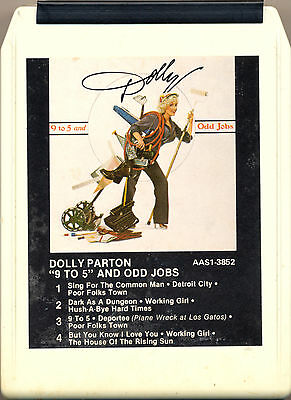 DOLLY PARTON 9 to 5 And Odd Jobs  8 TRACK TAPE  CARTRIDGE