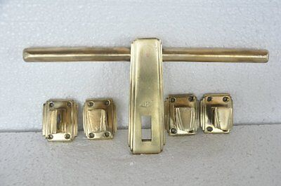 Fine Brass Unique Flat Shape Solid Heavy Handcrafted Door Latch Set