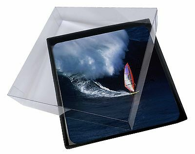 4x Wind Surfer Picture Table Coasters Set in Gift Box, SPO-WS2C