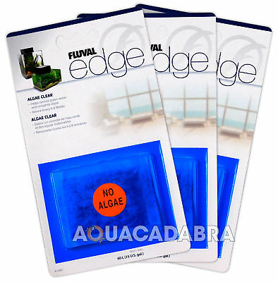 3x FLUVAL EDGE ALGAE CLEAR (TRIPLE PACK!) FILTER PADS GREEN WATER CLEAR AQUARIUM