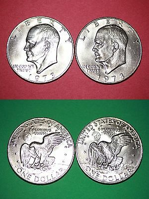 1973 P D Uncirculated Clad Eisenhower Ike Dollars Flat Rate Shipping