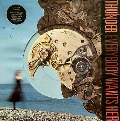 """THUNDER - Everybody Wants Her (12"""" Single) (Picture Disc) (EX/VG-)"""