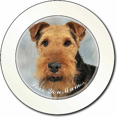 Welsh Terrier Dog 'Love You Mum' Car/Van Permit Holder/Tax Disc Gift, AD-WT1lymT