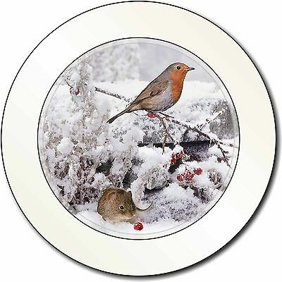 Snow Mouse and Robin Print Car/Van Permit Holder/Tax Disc Gift, AMO-5T