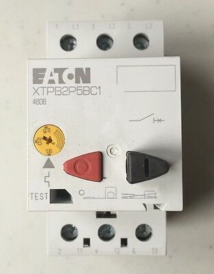 Eaton Cutler Hammer XTPB2P5BC1 Manual Motor Starter Protector Switch PKZM01-2,5