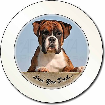 Boxer Dog Pup 'Love You Dad' Car/Van Permit Holder/Tax Disc Gift, DAD-164T