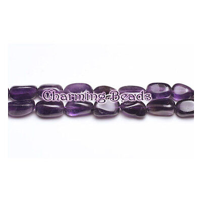 Strand Of 30+ Purple Amethyst Approx 7 x 11mm Smooth Nugget Beads GS6604-1